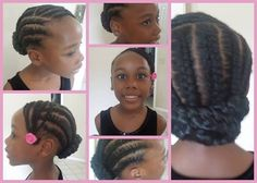 Natural hairstyle for kids Little Girl Braids, Braids For Kids, Girls Braids, Lil Girl Hairstyles, Natural Hairstyles For Kids, Braided Hairstyles, Hairdos, Curly Hair Styles, Natural Hair Styles