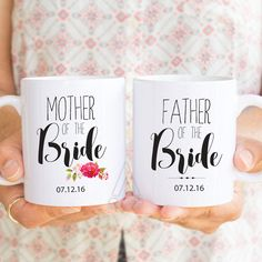 mother of the bride gift, father of the bride gift, gifts for mother of the bride, gifts for parents of the bride, wedding gifts, mug MU238 by artRuss on Etsy