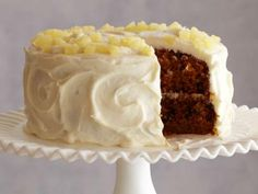 Ina Garten's Carrot and Pineapple Cake #Thanksgiving #ThanksgivingFeast #Dessert