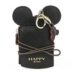 Women Cute Mickey Mouse Shape Card Holder Wallet Purse Neck Lanyard New Bag Coin Wallet, Pocket Wallet, Lanyard Wallet, Coin Purse, School Purse, Aluminum Wallet, Cute Wallets, Thing 1, Minimalist Wallet
