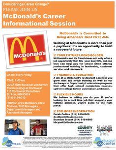 McDonalds Career Path Info Session