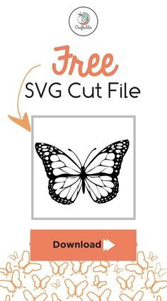Free Butterfly SVG Cut File | cricut | Svg files for cricut, Cutting