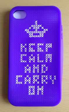 Angelas Crafts: Cross stitch iPhone cases - Funda para iPhone en punto de cruz