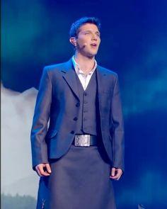 Colm Keegan<3 He looks amazing in a kilt:) Haha.
