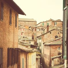 A room with a view onto the medieval Tuscan city of Siena. Irene Suchocki