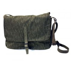 The Kanto handbag is made of a patterned army tent raincover by Globe Hope.