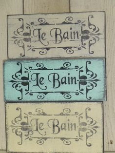 Shabby Le Bain Sign French Bath Sign Sign By Sophiescottage 15 95