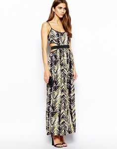 Enlarge Lashes of London Wildfire Maxi Dress with Cut-Out Waist