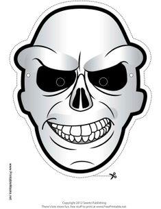 Free Cartoon Skull Printable Mask #free