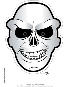 Monstrous Masks Ghosts and Stuff Free Printable.