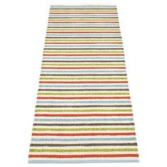 The wonderful Lisa rug multi-vanilla from Pappelina is a real splash of color for your home! The classic plastic rug has stripes in colors like red, green and turquoise which make anyone happy. The popular plastic rugs from Pappelina suit every room but are perfect for the kitchen or hall because they are very durable. Choose between different sizes!