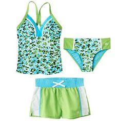 f36a94bfdf ZeroXposur Animal 3-pc. Tankini Swimsuit Set - Girls 7-16
