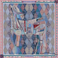 "55"" x 55"" shawl Hermès 