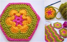 African Flower hexagons
