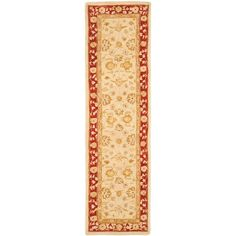 Anatolia Ivory/Red 2 ft. 3 in. x 12 ft. Runner