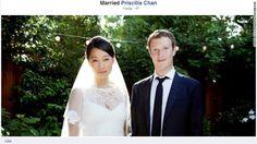 A day after Facebook went public, Mark Zuckerberg married his longtime girlfriend Priscilla Chan.
