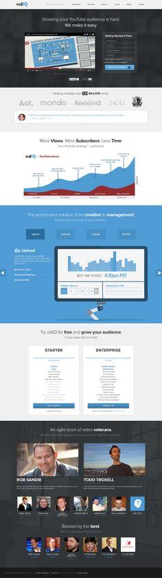 vidIQ Marketing Page #Simple #Interface #UI