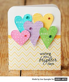 This beautiful card is not so complex after all! Hero Arts Cardmaking: Wishing You Brighter Days