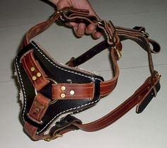 DOG HARNESS LEATHER $5~$7