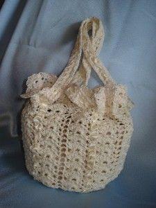Tejido a crochet: vestido de novia