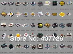50models of 500pcs/lot Tact Switch SMD phone button switch 12V display micro waterproof button