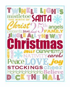 printable Christmas posters