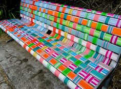 Australian Design - King's of Contemporary! Hand Painted Furniture, Paint Furniture, Furniture Projects, Bench Designs, Cool Designs, Painted Benches, Urban Park, Parking Design, Street Furniture