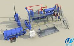 Doing Group Continuous Waste Plastic Pyrolysis Plant Can