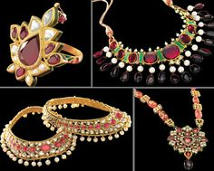 Bollywood Movie: 'Jodha Akbar'. All the jewellery in the film (400kgs of gold -- the wiki-page will tell you) has been designed by 'Tanishq'. The jewellery is primarily Rajasthani Kundan and Polki and Meenakari enamel-work from the 16th-century Mughal period. artnlight: Jodha Akbar -- artnlight.blogspo...  http://artnlight.blogspot.com/2008/02/jodha-akbar.html#