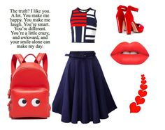"""""""Untitled #84"""" by barbora-rihoutova on Polyvore featuring Tommy Hilfiger, Alexander McQueen, Lime Crime and Anya Hindmarch"""