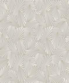 """Tätt bladmönster i gråbeige nyanser med en mockaliknande känsla""""Calice sand"""""""