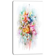 Found it at Wayfair.ca - 'Bunch of Watercolor Flowers' Painting Print on Wrapped Canvas