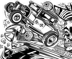204 best car toon images in 2019 drawings of cars rolling carts 1967 Cadillac Fleetwood Sixty Special kustom kulture street rods poster custom paint hot rods cars and
