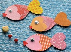 valentine fish could be made w/felt or foam, change colors for christmas, good for vacation bible school, too