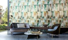 Mercury from Arte's Alchemy collection is a metallic, contemporary wallcovering that has a fascinating mix of colours and patterns that create an opulent interior. Available in 5 colourways