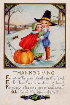 Happy Thanksgiving Vintage Postcard
