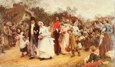 """Pulmad / Wedding"" - Luke Fildes (1843 - 1927)"