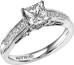 Art Carved Princess Channel Set Diamond Band- comes in Palladium for $1.8K