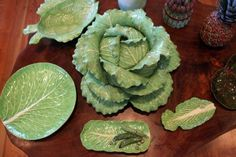"""""""Lettuce ware"""" ceramics made by Dodie Thayer. (Bruce R. Bennett/The Palm Beach Post)"""