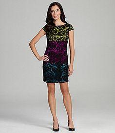 Tahari CapSleeve Lace Dress #Dillards