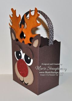 Stamping Inspiration: 25 DAYS OF CHRISTMAS, DAY #17: Rudolph the Reindeer Fancy Favor Box...