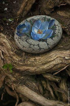 Seashell Painting, Pebble Painting, Pebble Art, Stone Painting, Stone Crafts, Rock Crafts, Painted Rocks Kids, Painted Stones, Rock Flowers