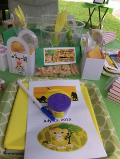 Lion King Baby Shower Table