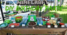Planning a kids birthday party with a Minecraft theme? These party treats are fun and easy to make. My daughter would love it! DIY Minecraft Birthday Party ideas