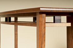 English Walnut Console detail. Designed and built by Simon Thomas Pirie Furniture - http://www.simonthomaspirie.co.uk
