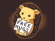 Free Hugs   Funny, cute & nerdy shirts   TeeTurtle - HOMIGOSH his sad eyes are KILLING ME!!!