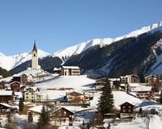 The awesome ski & hiking city of   Davos, Switzerland.