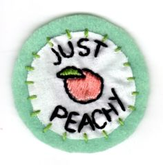 Patch Just Peachy par mittenfingerz sur Etsy