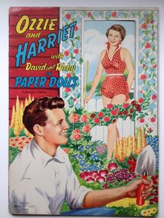 Vintage 1954 Ozzie and Harriet David Ricky Paper Dolls Original Uncut 1950's