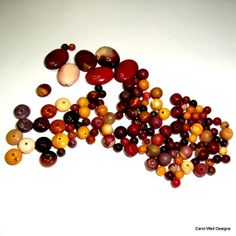 Mookaite oval rondelles and rounds DESTASHING Sale by LacadaBeads, $13.99